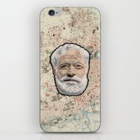 hemingway iPhone & iPod Skins featuring Ernest Hemingway by steam