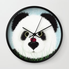 The Panda Bear And His Visitor Wall Clock