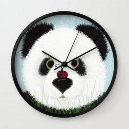 The Panda Bear And His Visitor Wall Clock