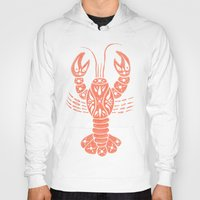 lobster Hoodies featuring Lobster by NoelleGobbi