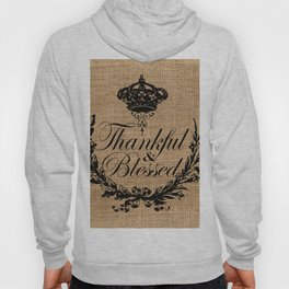 french country jubilee crown thanksgiving fall wreath beige burlap thankful and blessed Hoody