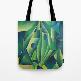 Cubist Abstract Of Village Woman Wearing A Headscarf Tote Bag