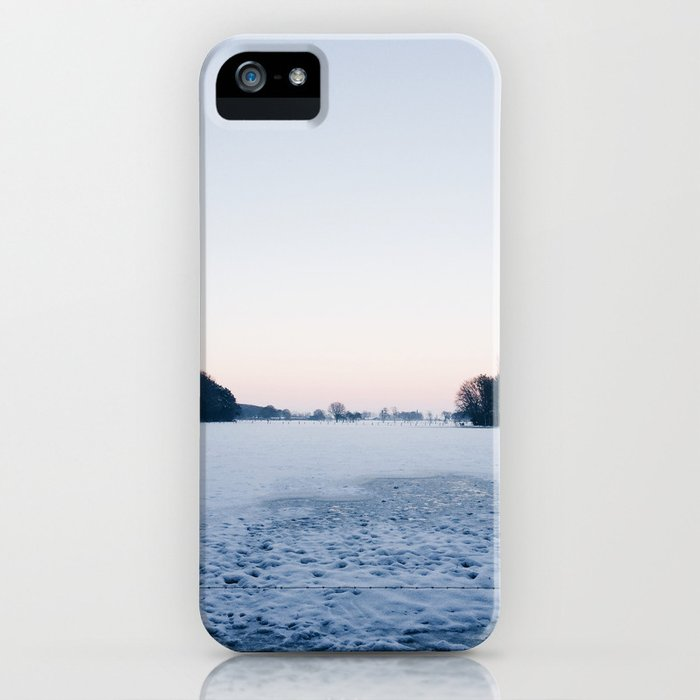 Snow: A Winter Sunset Full of Pink, White & Blue iPhone Case