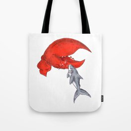 Great White Lobstah Lovah Tote Bag