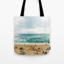 People Having Fun On Beach, Algarve Lagos Portugal, Tourists In Summer Vacation, Wall Art Poster Tote Bag