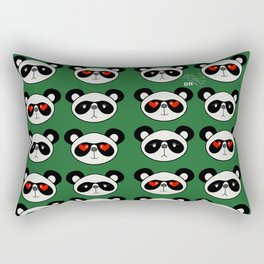 Pan Pan Couple Rectangular Pillow
