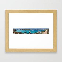 Panorama - Blue Lagoon, Comino Framed Art Print