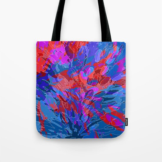 exploding coral Tote Bag