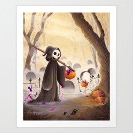 Meeting death Art Print