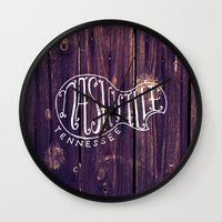 nashville Wall Clocks featuring Nashville by Grant Fisher