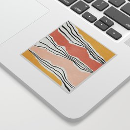 Modern irregular Stripes 01 Sticker