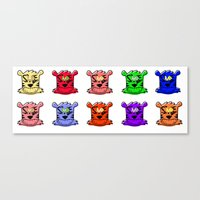 tigers Canvas Prints featuring Tigers by SMLE™