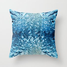 Blue Sky in Mirrors Throw Pillow