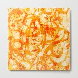 abstract stormy splashy texture (fiery yellow/orange) Metal Print