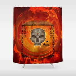 Awesome skull with celtic know Shower Curtain