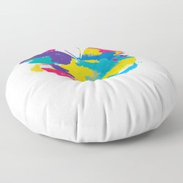 Colors Butterfly Floor Pillow