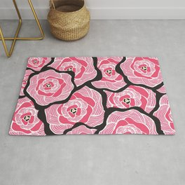 Signature Pink and Black Rug