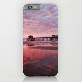 Huntington Beach Pier Sunset 12-29-19 iPhone Case