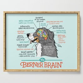 Berner Brain - Blue Serving Tray