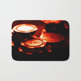 Casino Chips Stacks-Red Bath Mat