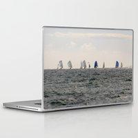 sailing Laptop & iPad Skins featuring sailing by habish