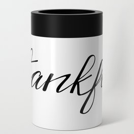 Thankful Calligraphy Can Cooler