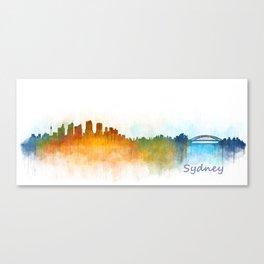 Sydney City Skyline Hq v3 Canvas Print