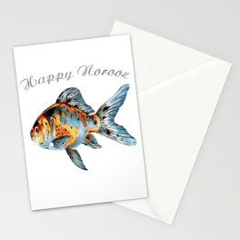 Happy Norooz Shubunkin Goldfish Persian New Year Stationery Cards