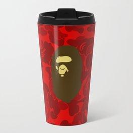 BAPE APE ON RED Travel Mug