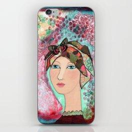 Girl at Peace iPhone Skin
