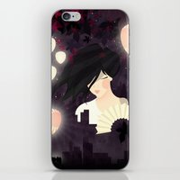 tokyo iPhone & iPod Skins featuring Tokyo by Jenny Lloyd Illustration