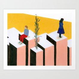 ovest / est Art Print