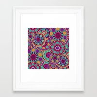 circles Framed Art Prints featuring CIRCLES by Nika