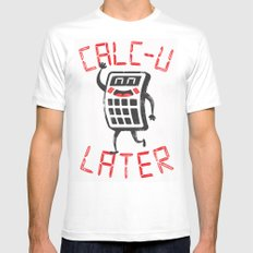 calc+u-later  MEDIUM Mens Fitted Tee White