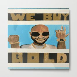 We Buy Gold - City Lights Metal Print