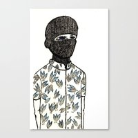 pinapple Canvas Prints featuring Pinapple Jihad Club by Alex Bruno
