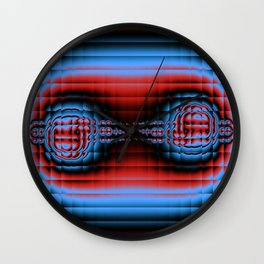 Fractal Compound eyes. Wall Clock
