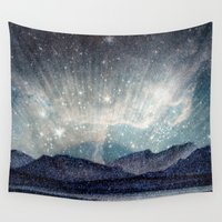 northern lights Wall Tapestries featuring Northern lights by LisaB