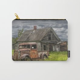 Old Vintage Pickup in front of an Abandoned Farm House Carry-All Pouch