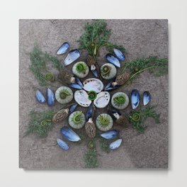 Nature Mandala: April Metal Print
