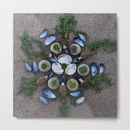 Nature Mandala: April Metal Print