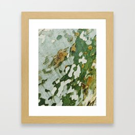 Green Bark Framed Art Print