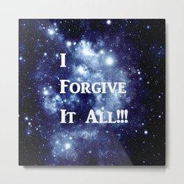 Blue Galaxy : I Forgive It All Metal Print