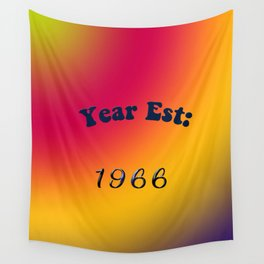 Year Est 1966 Wall Tapestry