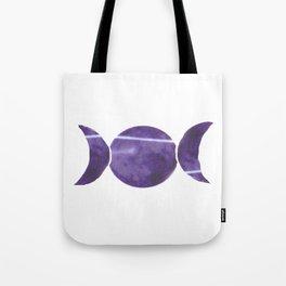 Violet Purple Triple Moon Tote Bag