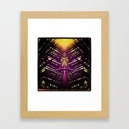 kaleidoscope palm Framed Art Print