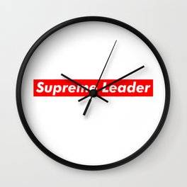 Supreme Leader Wall Clock