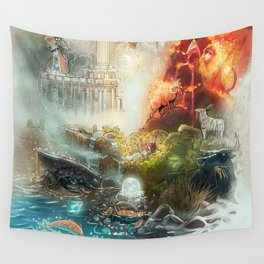 The 4 elements of the Zodiac Wall Tapestry