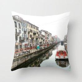 Milano Navigli - Italy Throw Pillow