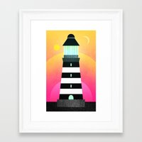 lighthouse Framed Art Prints featuring Lighthouse by Elisabeth Fredriksson